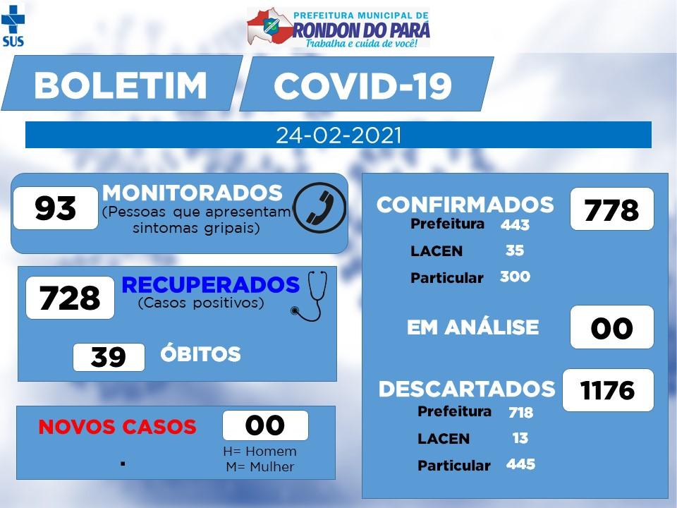 Boletim COVID-19 (24/02/2021) - Prefeitura Municipal de ...
